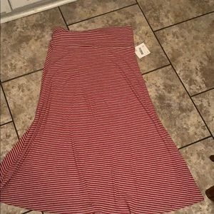 LulaRoe Stripe Maxi Skirt